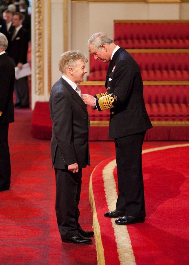 Vincent Hayes receives his MBE from HRH The Prince of Wales
